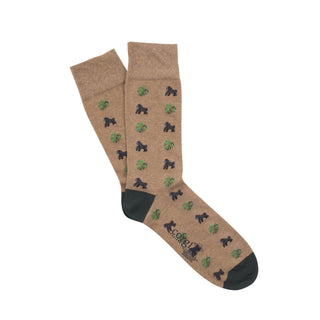 Men's Gorilla and Fern Print Cotton Socks