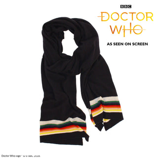 Doctor Who Striped Wool Scarf