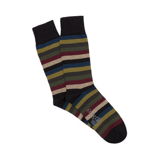 Men's Luxury Corgi Signature 7 Colour Stripe Cotton & Cashmere Socks