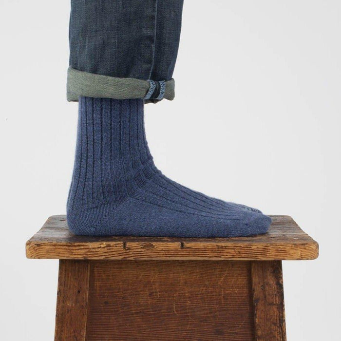 Men's Luxury Rib Pure Cashmere Socks