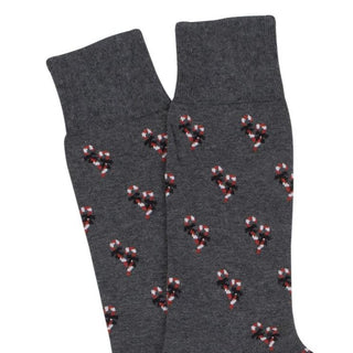 Men's Christmas Candy Cane Cotton Cashmere Socks