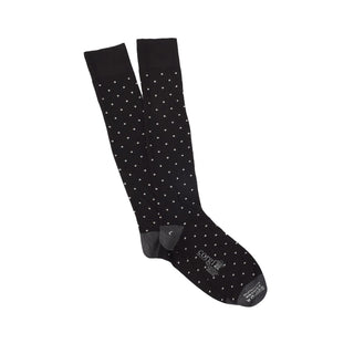 Men's Over the Calf Pin Dot Cotton Socks