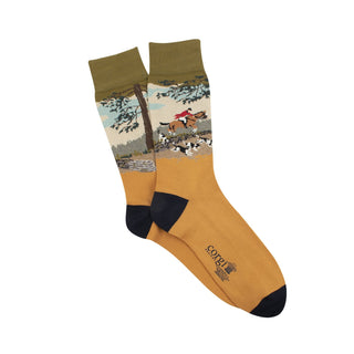 Men's Countryside Scene Cotton Socks