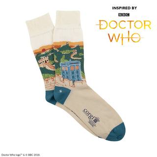 Men's Doctor Who Great Wall of China Scene Cotton Socks
