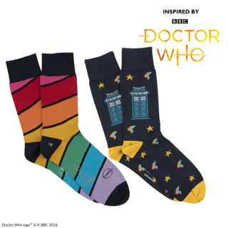 Men's Doctor Who Tardis 2 Pair Gift Box