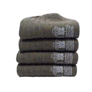 Men's Four Pack of Plain Rib Merino Wool Socks