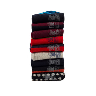 Men's Seven Pack of Assorted Wool & Cotton Socks