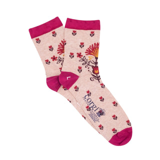 Women's Folk Floral Cotton Socks