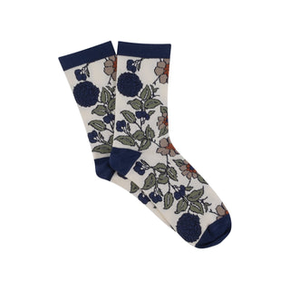 Women's Tapestry Floral Cotton Socks
