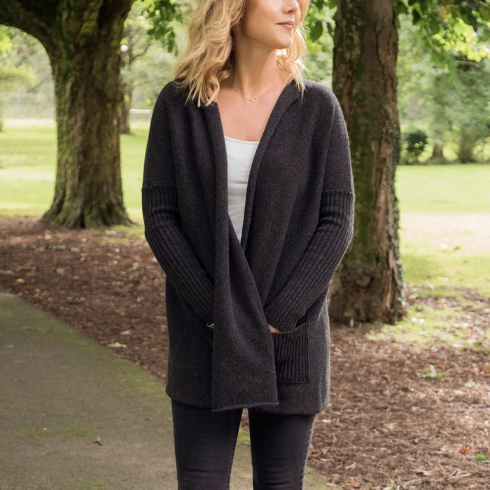 Women's Pure Cashmere Relaxed Fit Cardigan