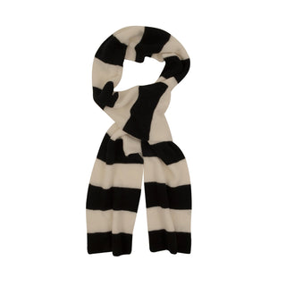 Men's Striped Cashmere & Cotton Football Scarf