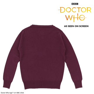 Doctor Who Unisex Striped Cashmere & Cotton Jumper