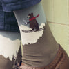 Men's Skiing Bear Cotton Sock