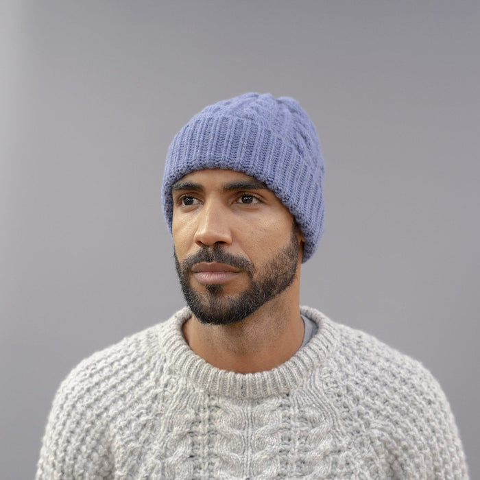 Men's Chunky Knit Cable Wool Beanie