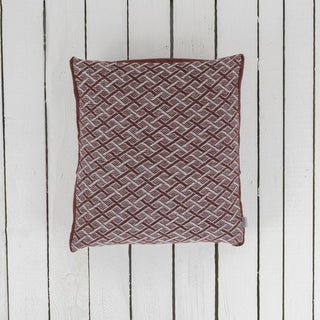 Geometric Patterned Wool Cushion