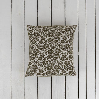 Floral Patterned Wool Cushion