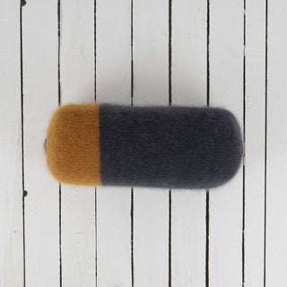 Colour Block Mohair Bolster Cushion