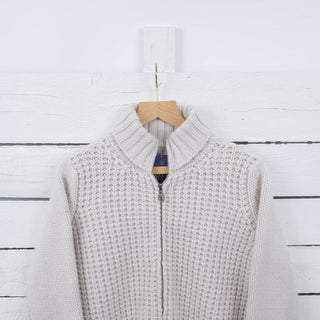 Women's Textured Zip Cashmere Jacket