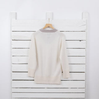 Women's Two Tone Cashmere Sweater
