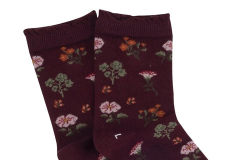 Women's Victoriana Floral Cotton Socks