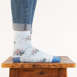 Women's Daisy Floral Cotton Socks
