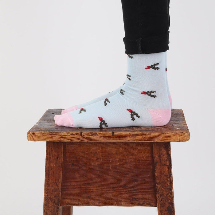 Women's Christmas Holly Cotton Sock