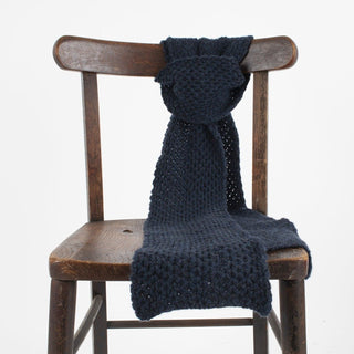 Men's Textured Knit Cashmere Scarf