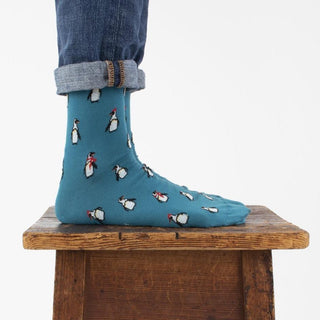 Men's Winter Penguin Cotton Socks