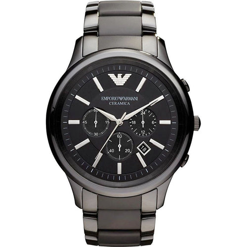 Emporio Armani AR1451 Men's Ceramica Ceramic Chronograph Watch