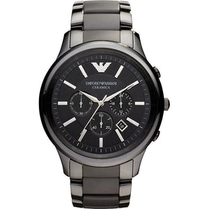 Emporio Armani AR1451 Men's Ceramica Ceramic Chronograph Watch - Gents Garms