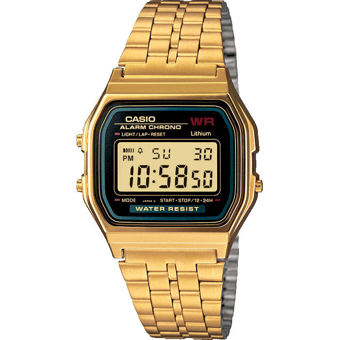 Casio Classic A159WGEA-1EF Gold LCD Watch - Gents Garms