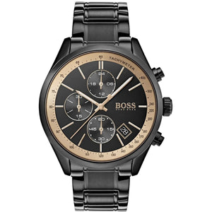Hugo Boss 1513578 Men's Grand Prix GQ Black Chronograph Watch - Gents Garms