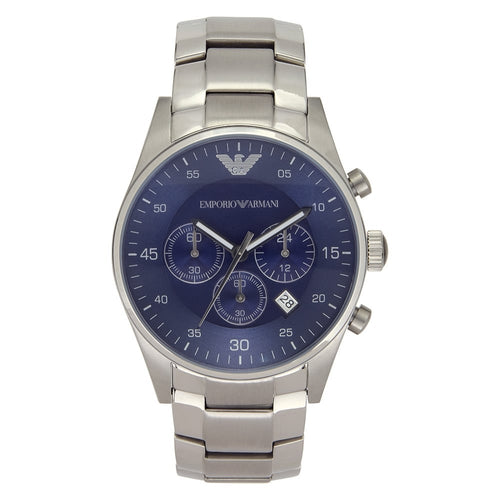 Emporio Armani AR5860 Men's Blue Dial Chronograph Watch - Gents Garms