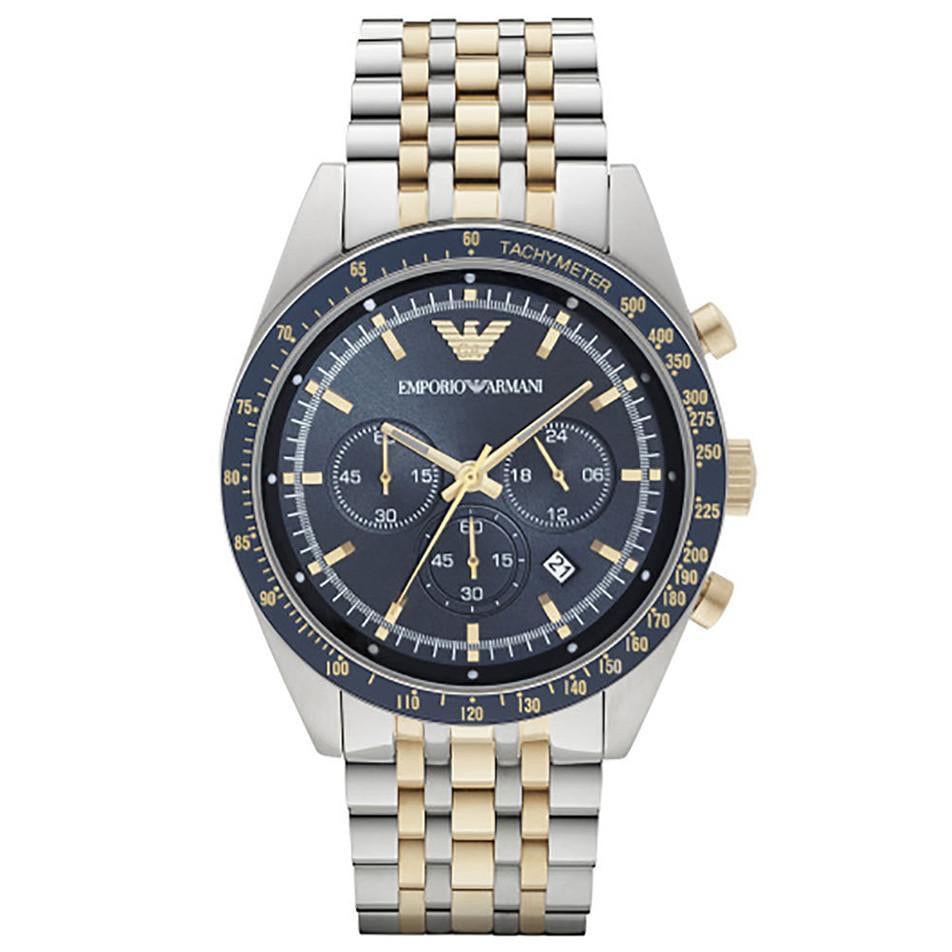Emporio Armani AR6088 Men's Tazio Chronograph Watch - Gents Garms