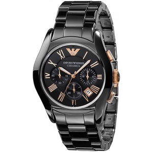 Emporio Armani AR1410 Men's Valente Ceramica Ceramic Chronograph Watch - Gents Garms