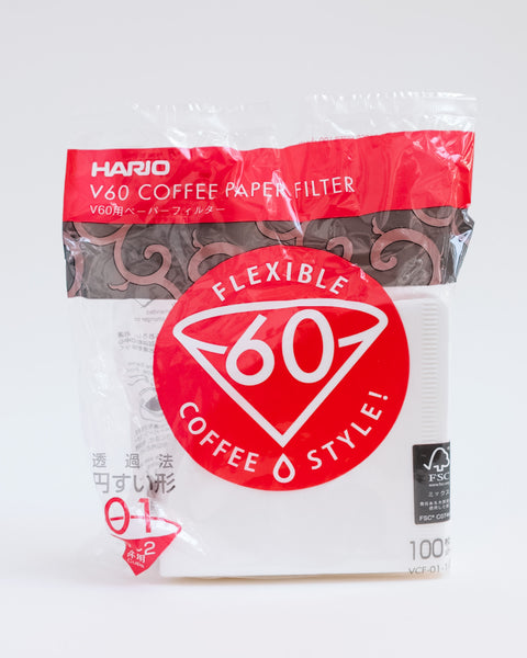 Hario V60 2 cup (100pcs) filter papers bulk - Community Coffee Co