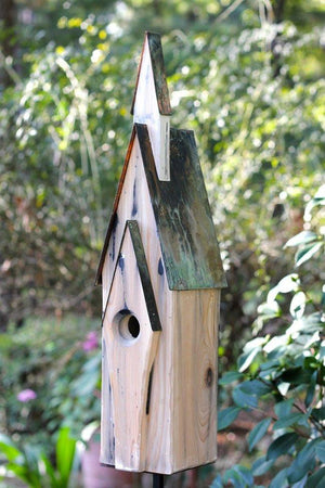 Heartwood Graceland Birdhouse - Weathered White