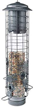Audubon NA32431 Dragonfly Squirrel-Resistant Tube Bird Feeder, Black