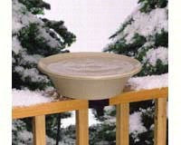 Allied Precision Industries 14B Four Seasons Heated Bird Bath with EZ Tilt Deck Mount and Pole Mount