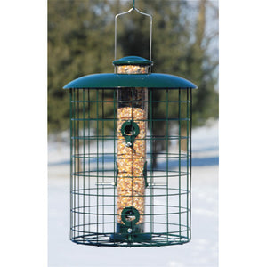 Squirrel Resistant Woodlink Caged 6 Port Seed Tube Feeder
