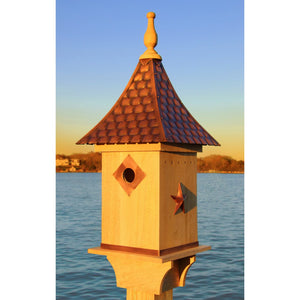 Good Directions Enclosed Copper Shingled Roof Bird House