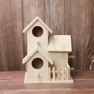 Large Handmade Wooden Nest Bird House