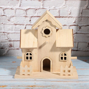 Outdoor Wooden Pet Bird Nests House