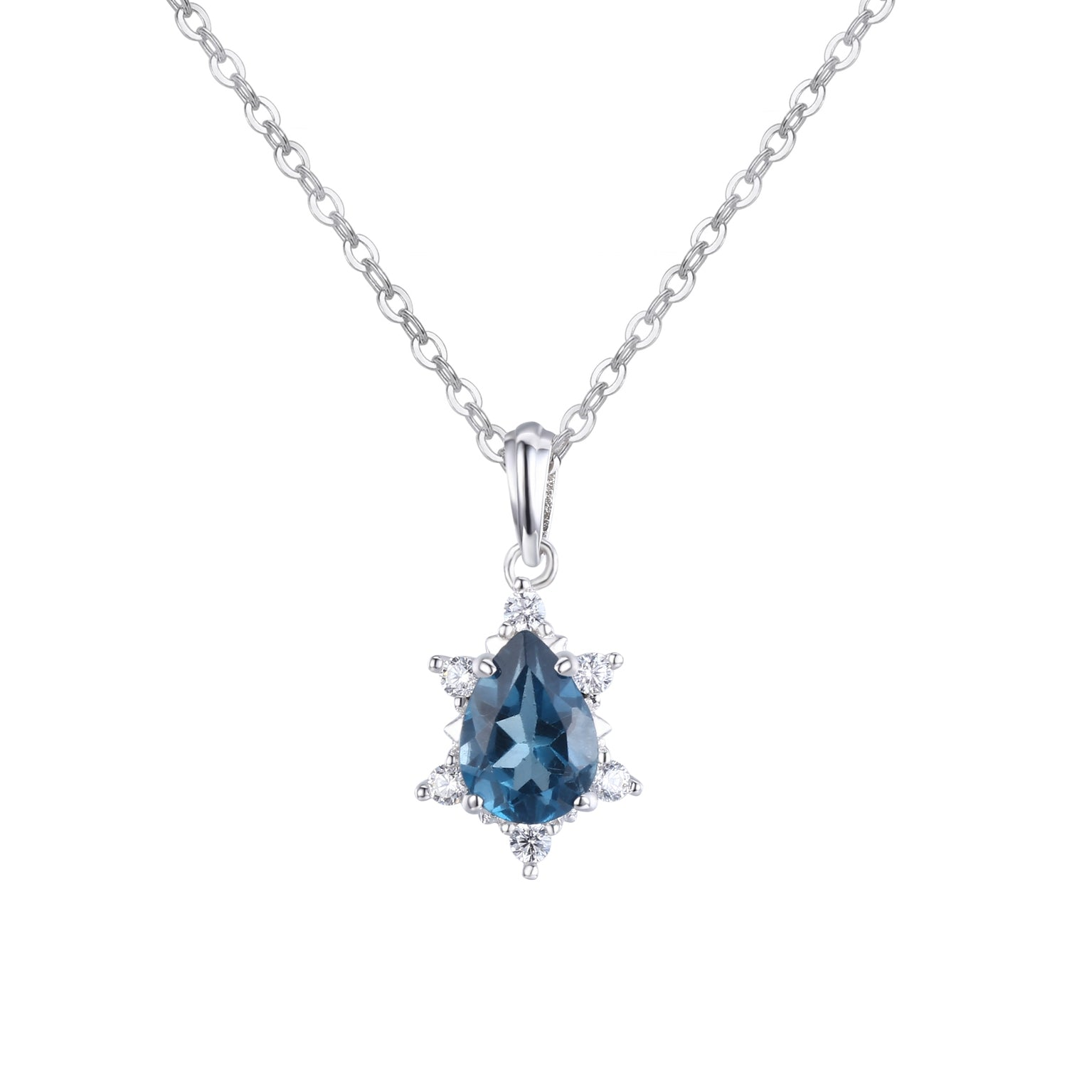 Gaia London Blue Topaz Pendant