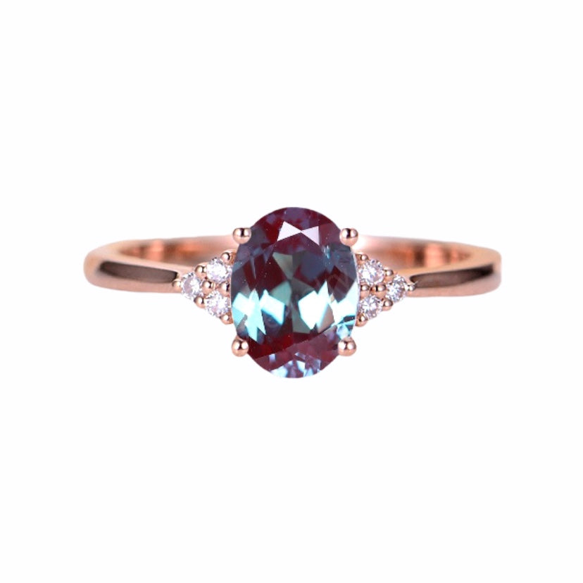 Vintage Style Alexandrite Ring