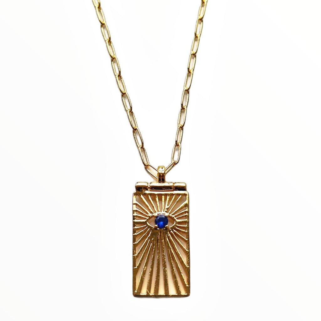 Solitaire Enchanted Eye Necklace