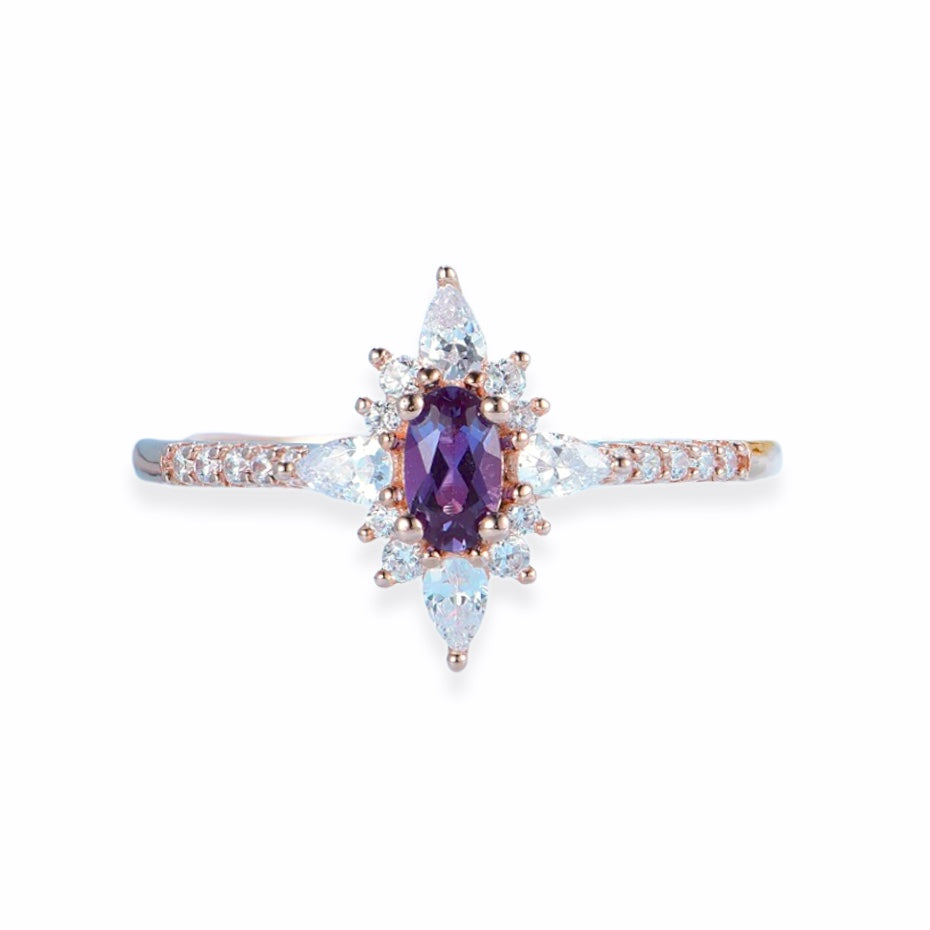 Star Aligned Alexandrite Ring