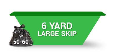 6 Yard Skip - Order Online Save 5% 2 weeks hire
