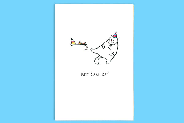 Happy CakeDay - A5 Greetings Card