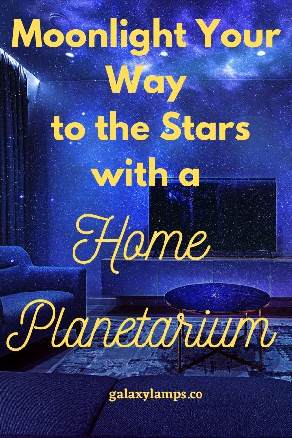 Moonlight your way to the stars with a home planetarium #homeplanetarium #starprojector
